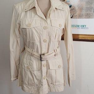 Tommy Hilfiger Cargo Beige Jacket, Size M